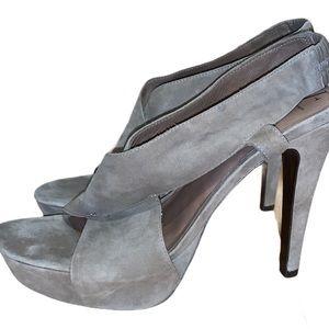 "DVF ""Zia"" Taupe Platform Heel Size 9.5"
